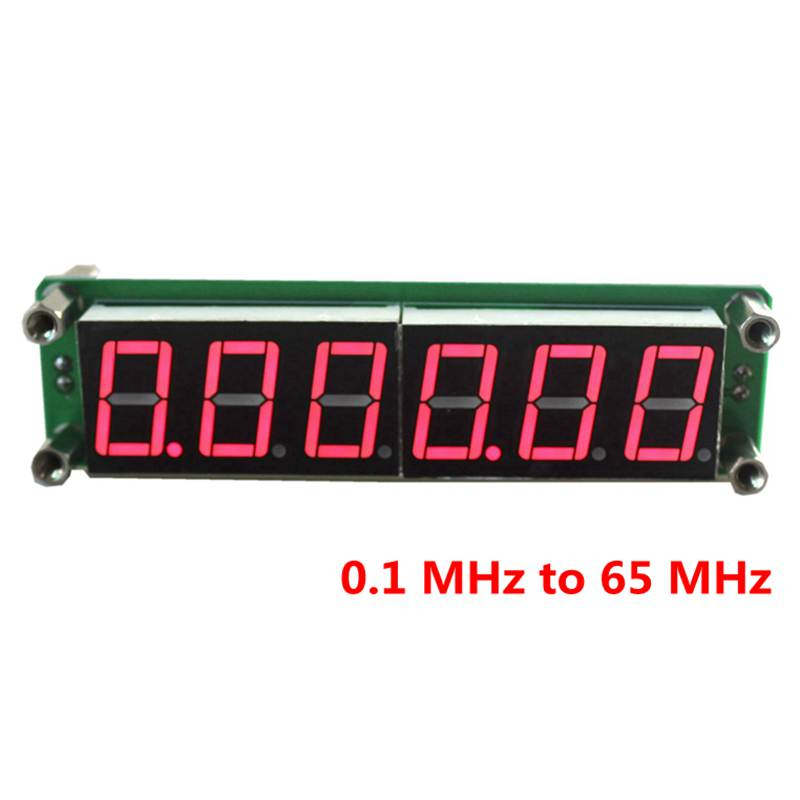 Red LED 6 Digits 0.1MHz~65MHz Digital Frequency Meter Counter Tester Cymometer