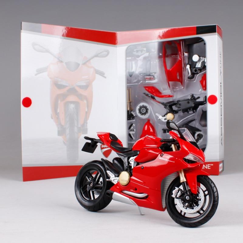 Maisto 1:12 Ducati 1199 PANIGALE жиынтығы DIY MOTORCYCLE BIKE - Дизайнерлер мен құрылыс ойыншықтары - фото 3