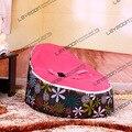 FRETE GRÁTIS assento de bebê com 2 pcs vermelho escuro até a tampa do bebê cobertura beanbag sacos de feijão cadeira sofá preguiçoso sofá da tela cadeira de criança