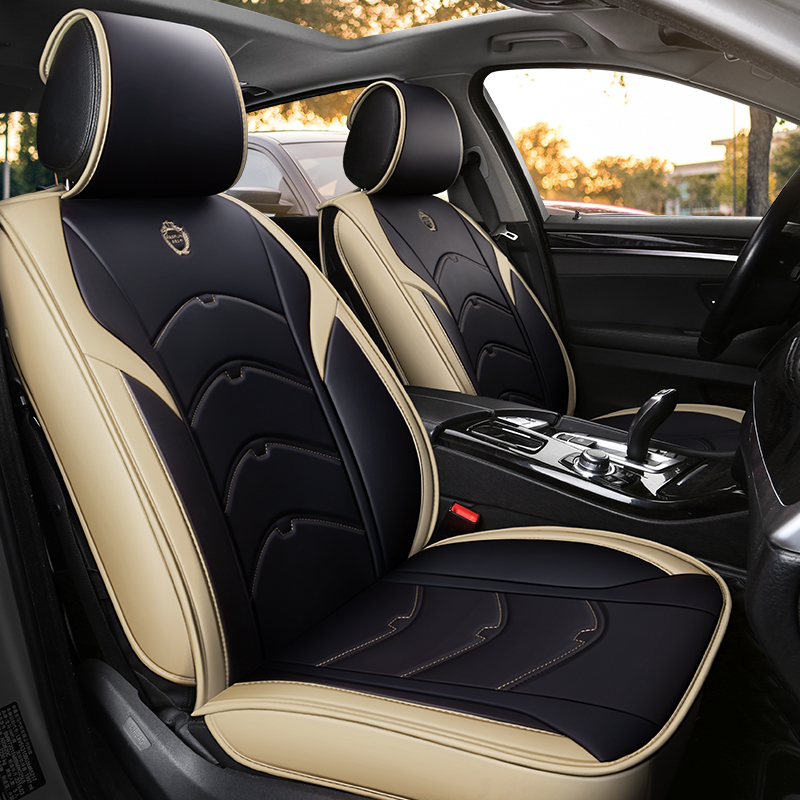 Les sièges auto en cuir écologique haut de gamme couvrent les couvertures de siège auto en cuir synthétique polyuréthane pour Skoda citigo fabia yeti roomster