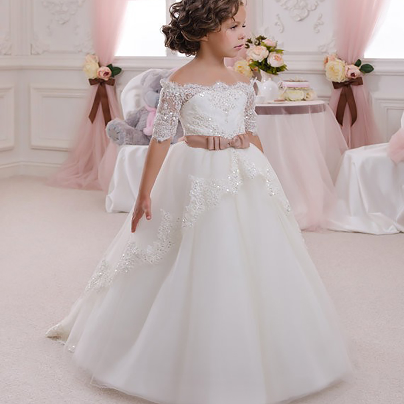 Girls Long Dresses For Kids Girl Evening Dresses For Child Party Dress For Girls Ball Gown Baby Girls Clothes Birthday Dress 9#