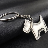 100PCS dog shaped metal key chain keychain key ring keyring hot gift