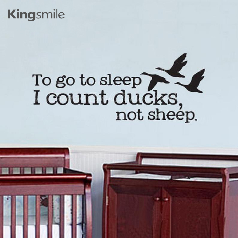 popular sleeping baby quotes buy cheap sleeping baby quotes lots new hunting ducks humor wall sticker to go to sleep i count ducks not sheep quotes