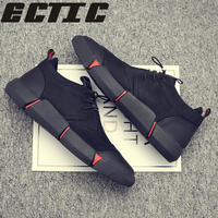 ECTIC Autumn and winter new men's shoes Student casual shoes British Korean version of the trend wild Loafers non slip SW 17