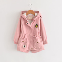 Kids Girl Windbreaker Jacket Hooded Kids Long Outerwear Coat Wholesale Lots Bulk Clothes Toddler Teenager Back To School Outfit