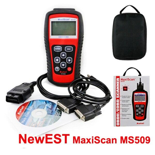 Prix pour Meilleure Marque Autel MaxiScan Code De Voiture Lecteur Autel MS509 OBDII OBD auto OBD2 Scanner Maxiscan MS 509 Automobile Outil De Diagnostic