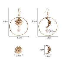 Sun and Moon Japanese Earrings