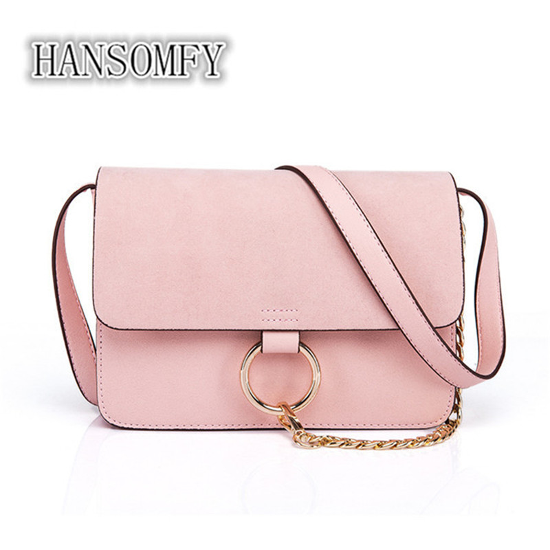 2018 new handbag chain portable shoulder messenger bag ring small square package women bag bolsa feminina bags women bags купить