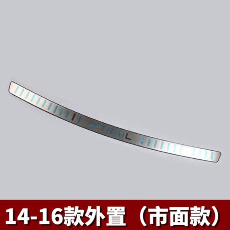 Pare-chocs arrière Protecteur Sills Intérieur Tronc Arrière garde Bande De Roulement Plaque Pédales Pour 2014-2016 Nissan X-trail X sentier T32 Car styling