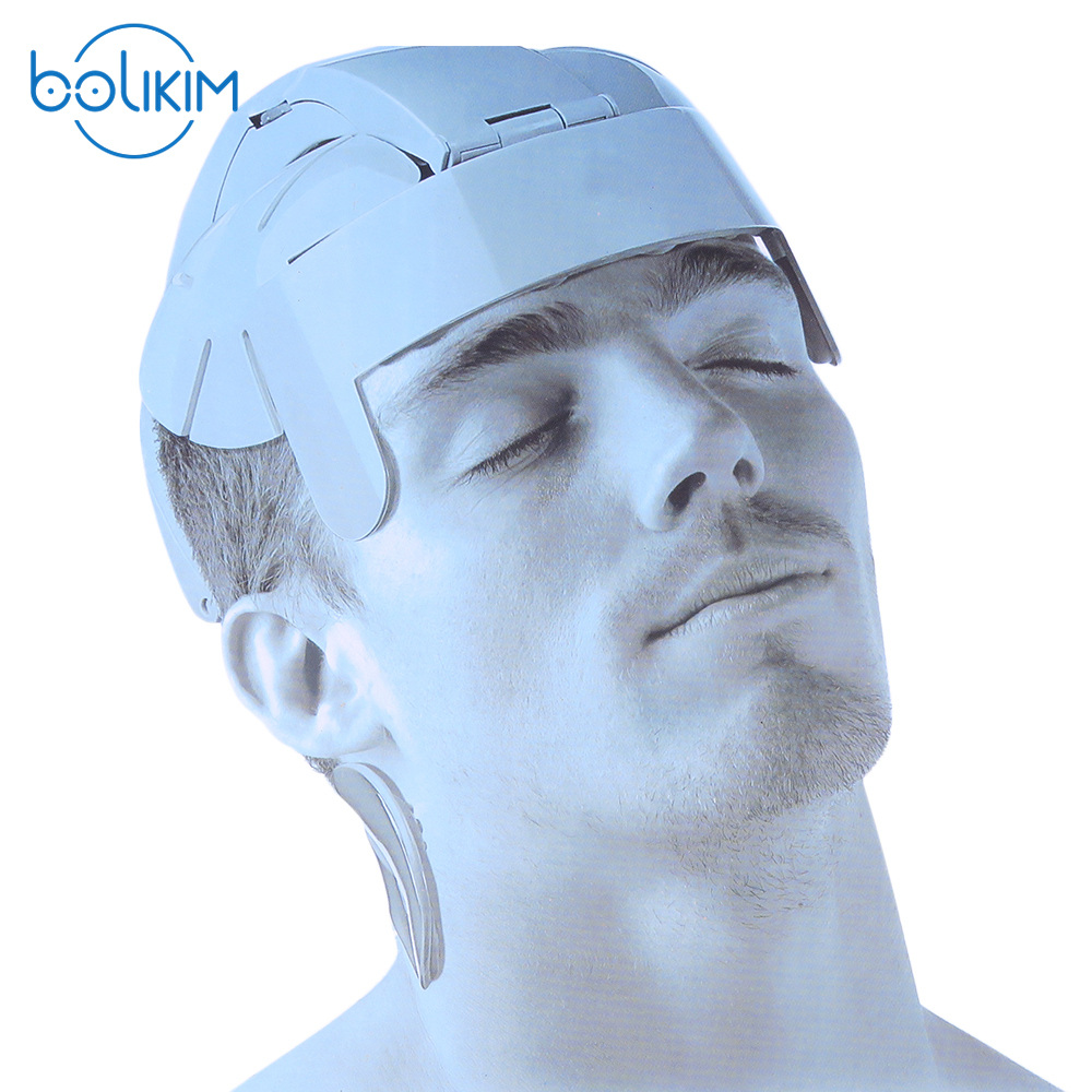 BOLIKIM Brand Humanized Design Electric Head Massager Brain Massage Relax Easy Acupuncture Points Fashion Gray Promote Hair Grow chargeable brain massage instrument head kneading massager head massager prevent hair loss promote hair growth