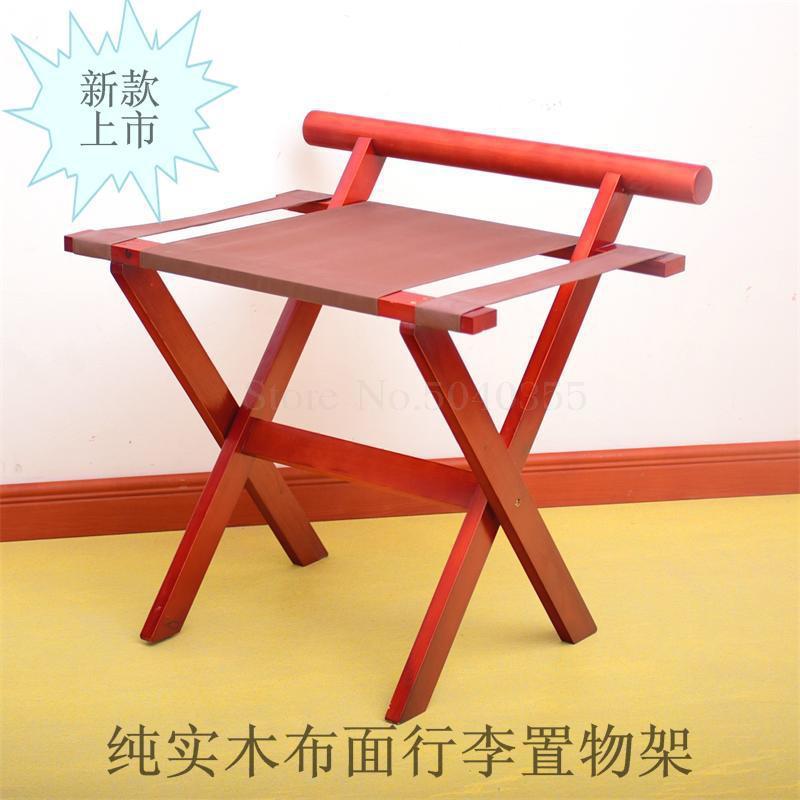 Гостиничная багажная полка мебель для отеля вешалка для спальни напольная Складная Бытовая прикроватная вешалка для одежды деревянный - Цвет: 60x50x60cm