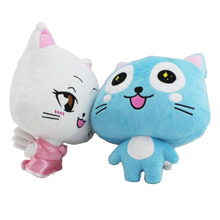 Anime Fairy Tail a Couple of Happy Cat 12 Plush Dolls Soft Toys Stuffed Gift