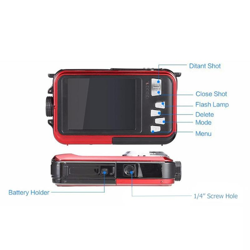 Enfants étanche 24MP Double écran caméra sous-marine enfants en plein air Photo jeu accessoires garçons filles CMOS capteur Mini caméra jouets - 5