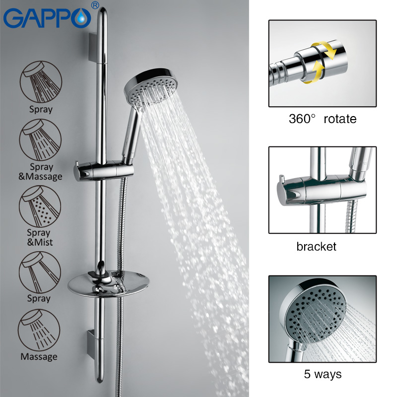 GAPPO Bathtub Faucet bathroom faucet torneira wall mount bath Stainless steel mixer tap Slide Bar waterfall Shower faucet GA8008 gappo bathtub faucet bath shower faucet waterfall wall shower bath set bathroom shower tap bath mixer torneira grifo ducha