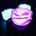 Fiesta de navidad Romántica Flor de Rose de Luz LED Noche luminaria led cambio de color de luz nocturna lámpara de batería alimentado