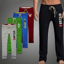 Summer Mens joggers 100% cotton men pants full length Embroidery thin sweatpants