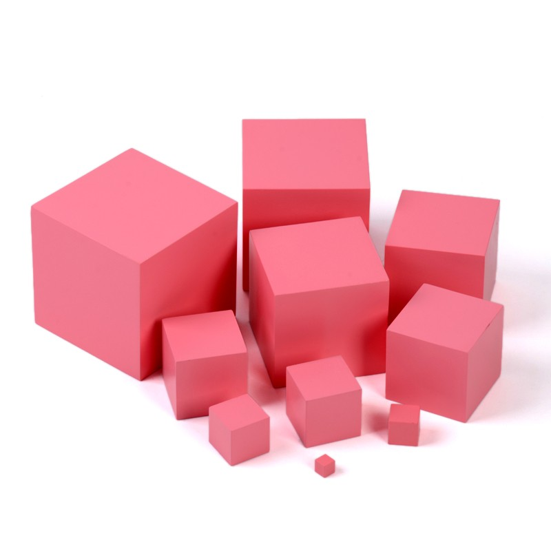 Montessori version professionnelle tour rose petite enfance éducation préscolaire formation cours sensoriel maternelle enseignement jouet