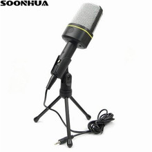Promotional MSN Skype Singing Recording 3.5mm High Quality Condenser Microphone Mic For Laptop PC
