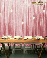 Shinybeauty 610x305cm Rose Pink Sequin Backdrop 20x10ft For Videos Party Wedding Pictures