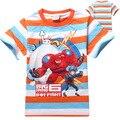 Big hero 6 baymax niños camiseta del verano de manga corta 2016 lindo niños de la historieta t camisa del niño del bebé de los niños remata camisetas ropa