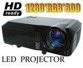 ¡ CALIENTE! 5500 Lúmenes del proyector full hd 3d llevó projektor beamer proyectores 1080 p lcd proyector multimedia HDMI USB para cine en casa