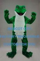 Бесплатная доставка взрослых Размеры Маскоты большая зеленая лягушка Маскоты костюм персонажа карнавал Маскоты te Маскоты TA наряд костюм к