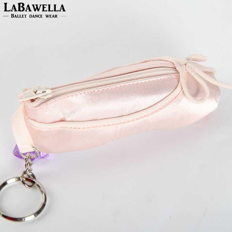 Profesyonel kadın hatıra balerin saten bale pointe ayakkabı çanta anahtarlık kız cüzdan bale anahtarlık hediyeler anahtarlık DT009B