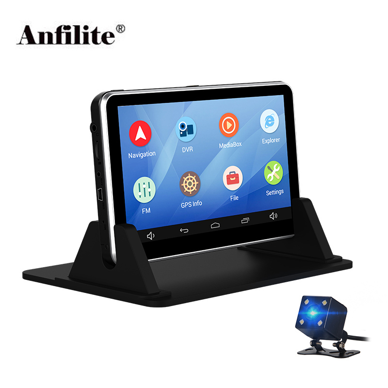 Anfilite 7 Inch Capacitive Android GPS Navigation RAM 512MB 16GB Avin WIFI Spain Europe Map Truck Vehicle Gps Navigator Dash Cam