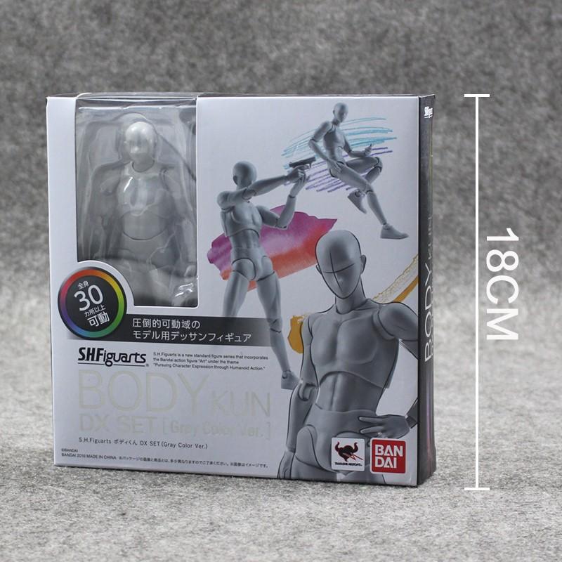 2 Style Body Chan Pale Gray Color 14cm Figma Bandai SHF Ferrite PVC Action Figure Figma (13)