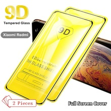 2Pcs Full Cover Glass For Xiaomi redmi 6 6A 7 7A K20 Pro 4X 5A Redmi Note 4 5 9D Tempered Screen Protector film cover