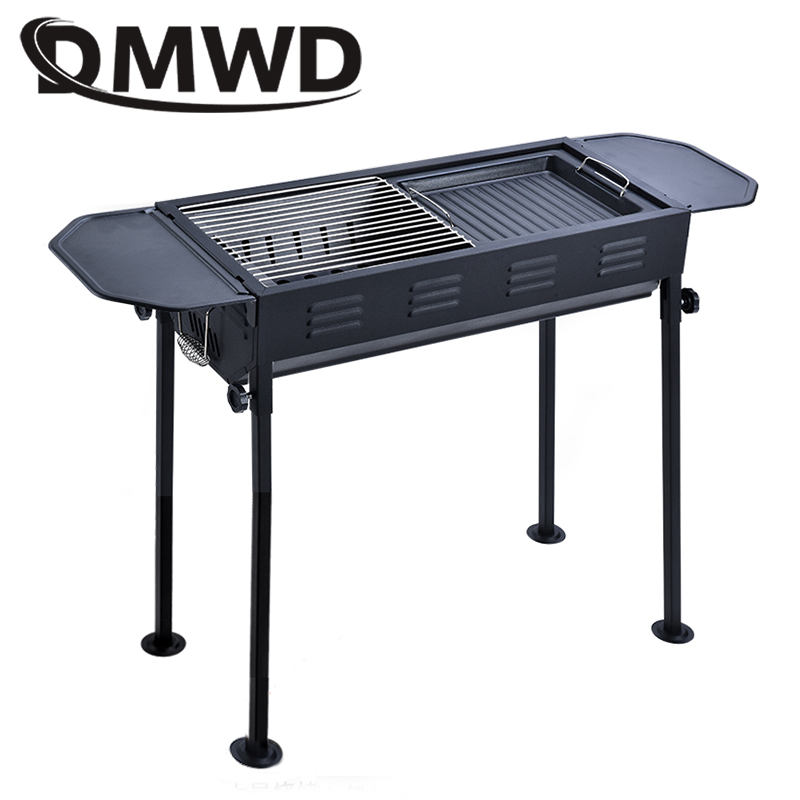 DMWD Outdoor Barbecue Kebab Grill Food Carbon BBQ Meat Roasting Oven Stove Charcoal Picnic Camping 5-15 People Heating Furnace