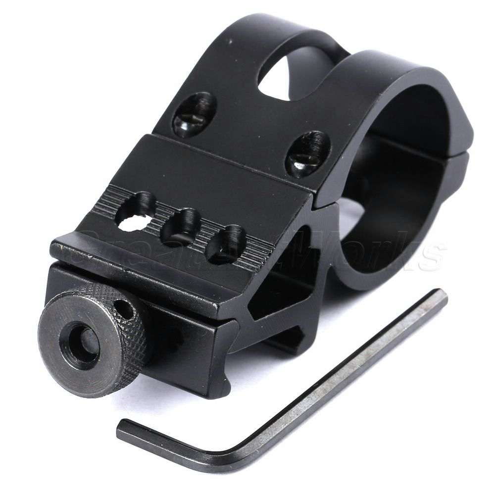 Hot 30mm Offset Clamp Scope Ring 20mm Picatinny Rail Mount for Laser Flashlight Torch Weaver for