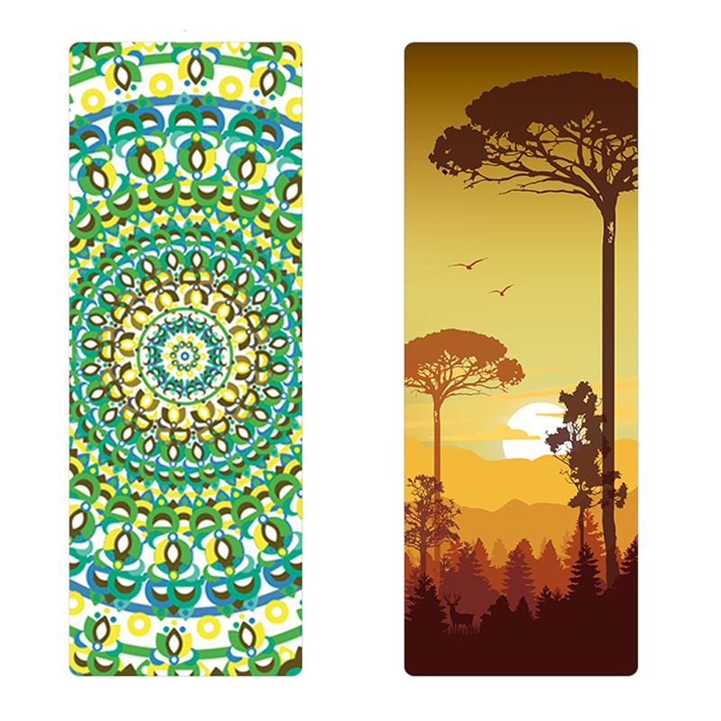 Environmental 6 color to choose Natural Rubber Yoga Mat eco-friendly slip-resistant Hot yoga mat for yoga Fitness mat eco friendly dyeing of silk with natural dye