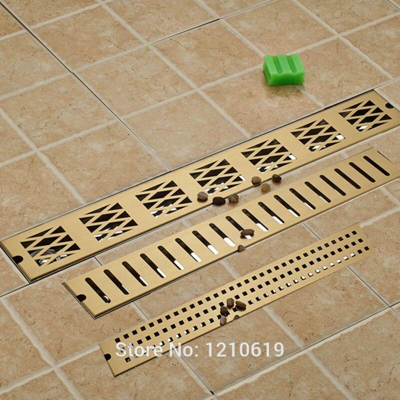 Современный напольный 700 мм ванная комната душевая Золотая отделка дезодорации трап