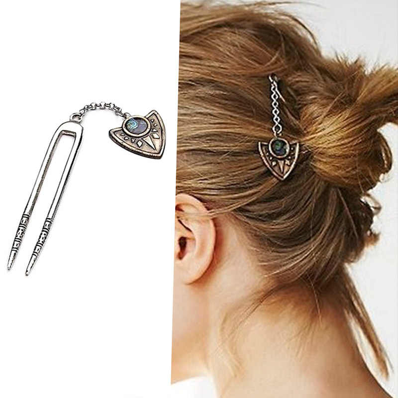 Newest Hair Accessories fashion Bohemia vintage gold color  Triangle hairpin hairwear hair best gift for women girl HA-87