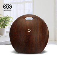 Warmtoo 1 Pcs USB LED Wooden Grain Ultrasonic Essential Air Humidifier Diffusers Office Home Air Purifier