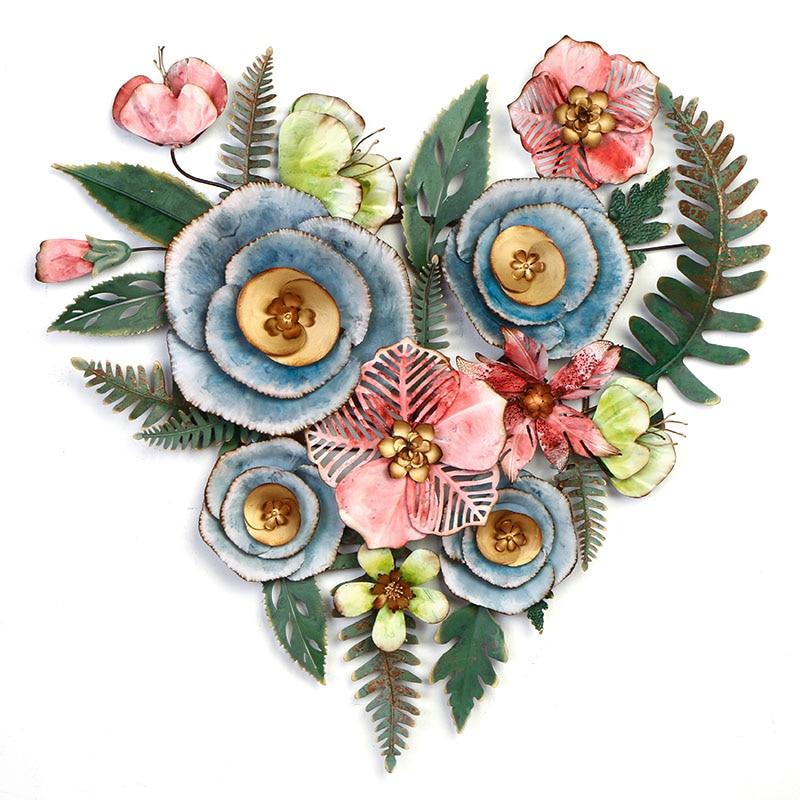 Гостиная подвесной цветочный настенный Декор для дома цветок полый ремесло Трехмерная структура личность Фреска орнамент - 5