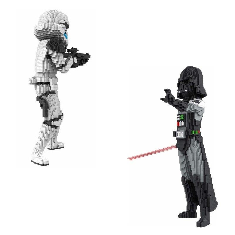 Big Size Dath Vader Diamond Blocks Yoda Mini Blocks Model DIY Building Toys Educational Children Toys Star
