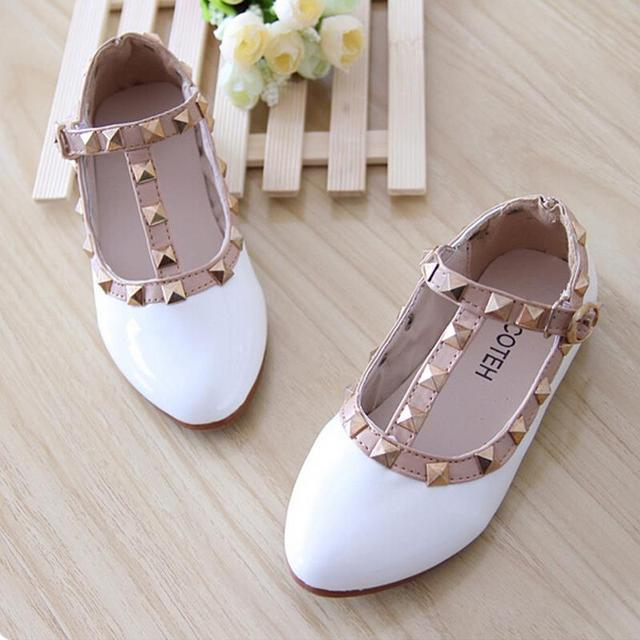 children rivet shoes Wholesale Baby s Flat shoes size 21-36 Rivet shoes for Girls  Leather c7ee2ea0daa8