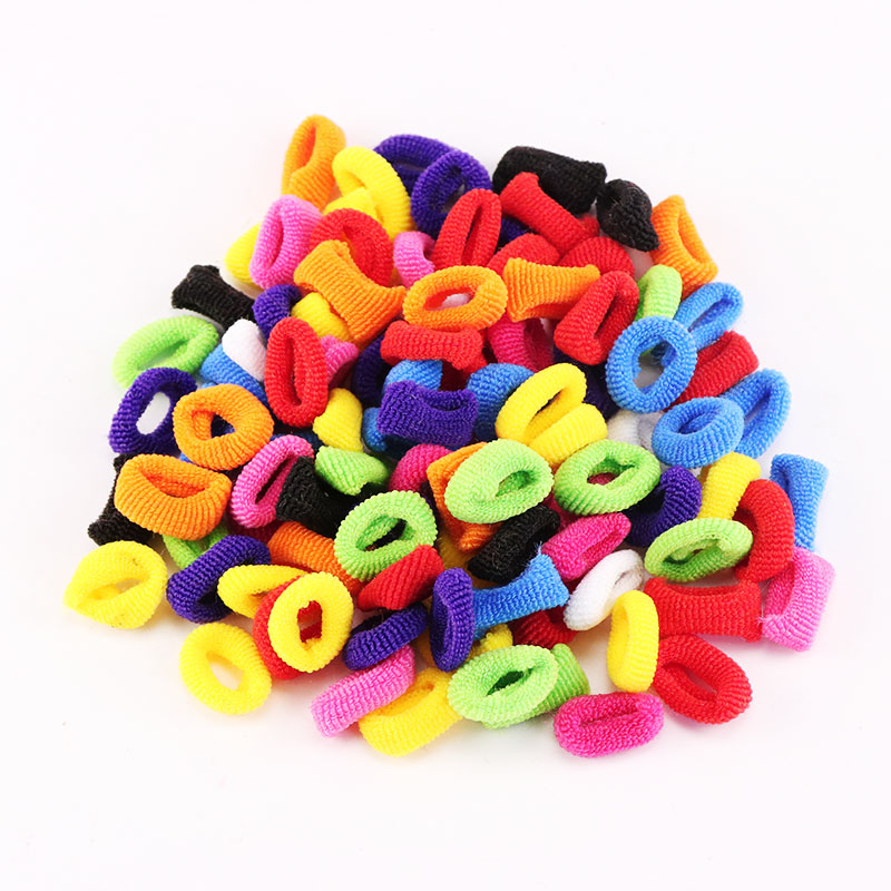 1Pack Small Ring Hair Bands Girls Colorful Elastic Hair Rope Tie Gums Kids Rubber Band Ponytail Holder Hair Accessories headwear m mism 2pcs new rhinestone bead hair elastic band hair accessories rubber tie gum ponytail holder scrunchy for women girls