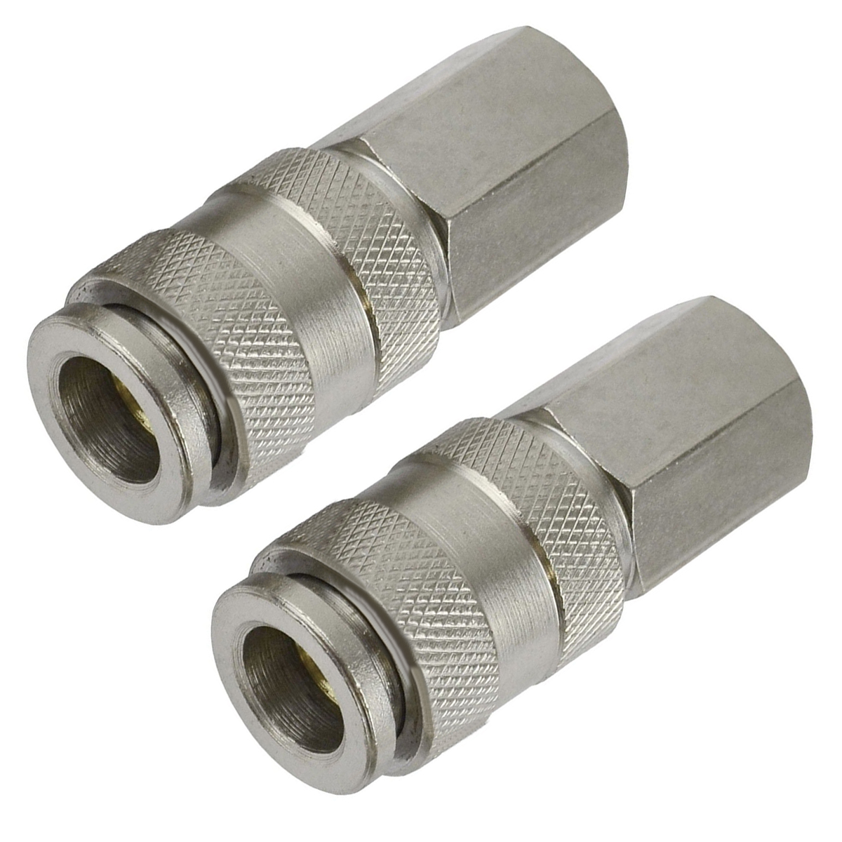 2pcs Mayitr Air Line Hose Connector 1/4 BSP Thread Euro Fitting Female/Male Quick Release Set cnz hosetail connector fitting barbed female bsp 1 1 2 inch thread set of 2