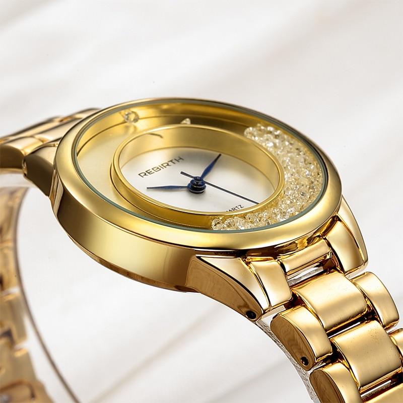 ODRODZENIE Top Brand Luxury Gold Strap Bransoletka kobiety zegarki - Zegarki damskie - Zdjęcie 5