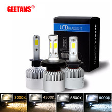 GEETANS 12V Car Headlight H4 LED H7 H1 H3 H11 H13 HB1 HB2 HB3 HB4 HB5 9003 9004 9005 9006 9007 72W 8000LM 4300K 6500K 8000K FJ(China)