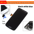 For Samsung Galaxy S4 mini GT-i9190 i9192 i9195 Black LCD Display Touch Screen Digitizer Assembly with frame Replacement Parts