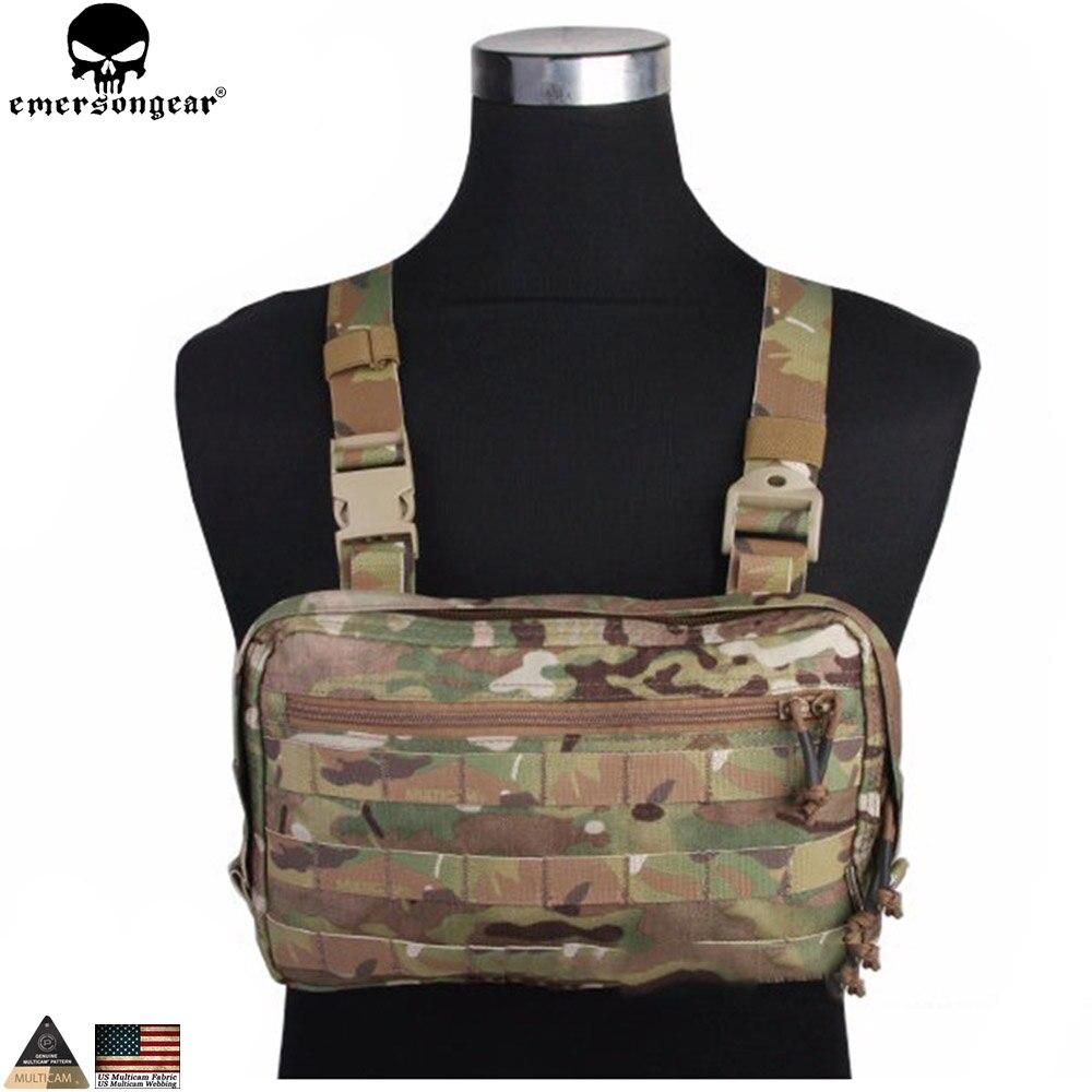EMERSONGEAR EDC sac poitrine Recon sac outil poche Combat tactique gilet pochette sac Multicam noir EM9285
