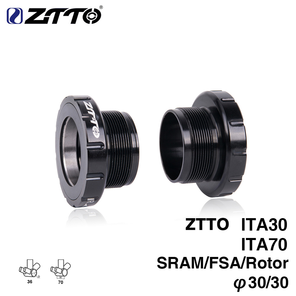 ZTTO ITA30 ITA70 MTB Road bike External Bearing Bottom Brackets BB for Parts BB386 30mm Crankset ztto bsa30 bb68 bsa 68 73 mtb road bike external bearing bottom brackets for bb rotor raceface slk bb386 30mm crankset
