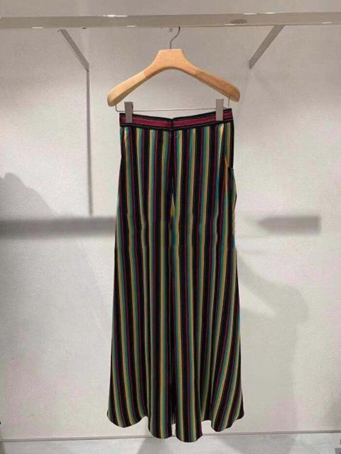 Jupes Style Longues Nouvelle Mode Rayé Couleur Frappé 2019 Femmes Vintage Printemps La tshrCQd