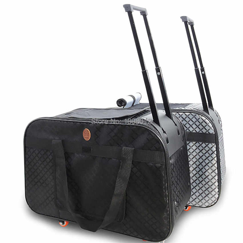 455e2fb35 ... Pet Carrier Wheels large Dog Stroller Travel Cart Cat Kennel Buggy  House Car Puppy Nest Traveling ...