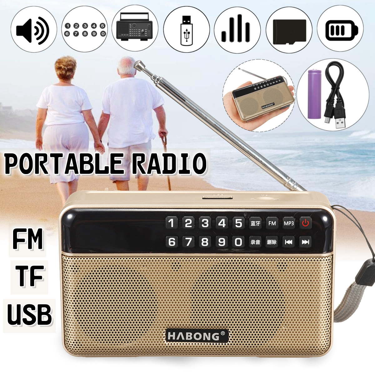 Analytisch Drahtlose Bluetooth Lautsprecher Fm/tf/usb Radio Tragbare Lautsprecher Radio Mp3 Spielen Sound Aufnahme Rabatte Verkauf Tragbares Audio & Video