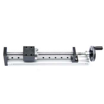 Manual Rail Actuator Sliding Table+ Handwheel with Lock Device SFU1605 Ballscrew Cross Slide Motion Linear Guide CNC DIY